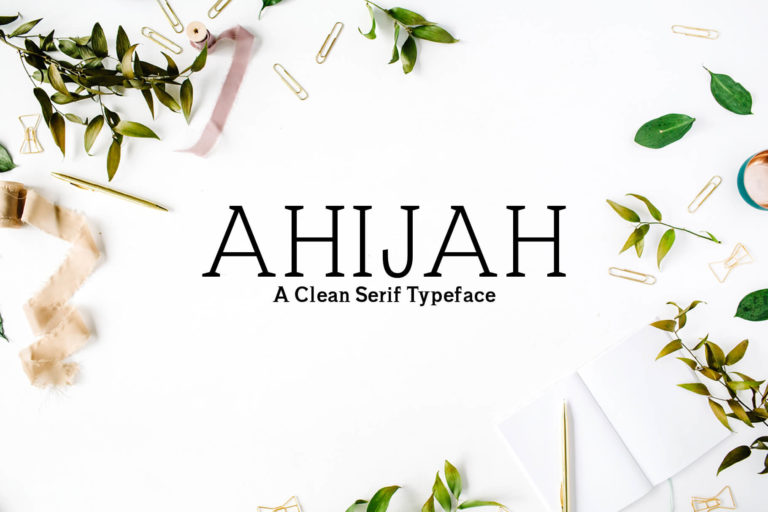 Preview image of Ahijah A Clean Serif Font Family