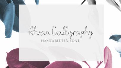 Ahsan Calligraphy Font