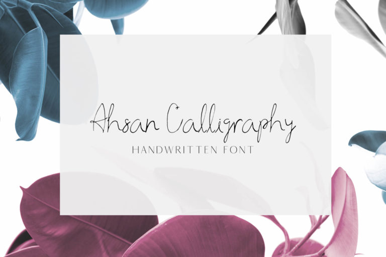 Preview image of Ahsan Calligraphy Font