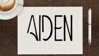 Aiden Art Deco Font