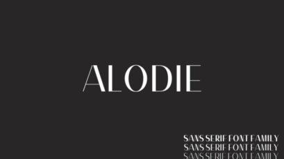 Alodie Sans Serif Font Family