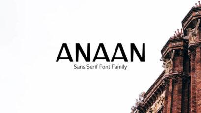 Anaan Sans Serif Typeface