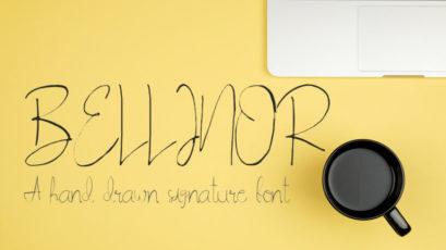 Bellinor Handdrawn Signature Font