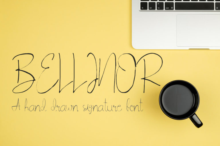 Preview image of Bellinor Handdrawn Signature Font