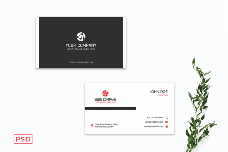 Preview image of Black Minimal Business Card Template