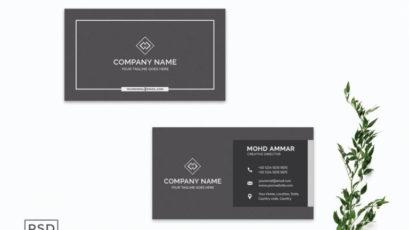 Black Modern Business Card Template