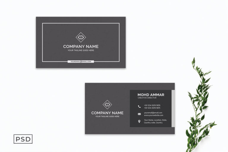 Preview image of Black Modern Business Card Template