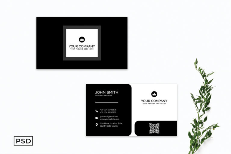 Preview image of Black & White Modern Business Card Template