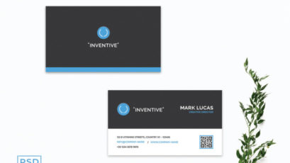 Blue Corporate Business Card Template V3