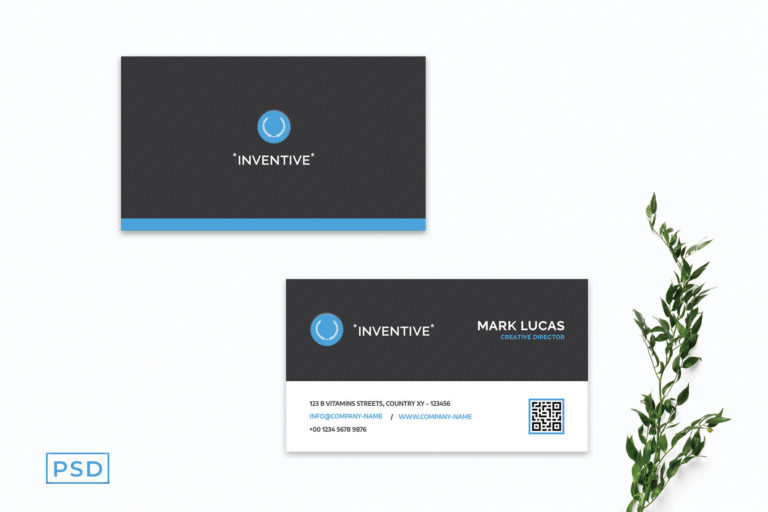 Preview image of Blue Corporate Business Card Template V3