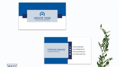 Blue Creative Modern Business Card Template