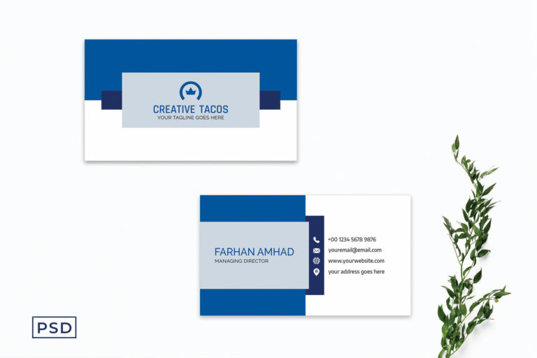 Preview image of Blue Creative Modern Business Card Template