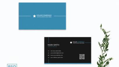Blue Minimal Creative Business Card Template
