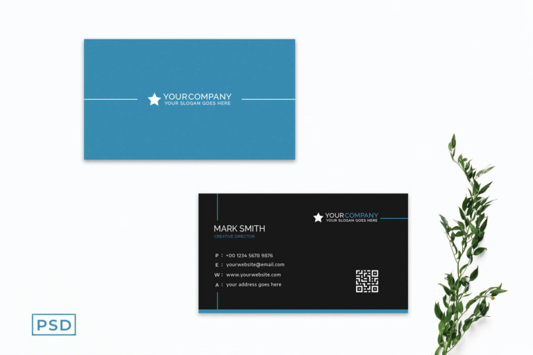 Preview image of Blue Minimal Creative Business Card Template