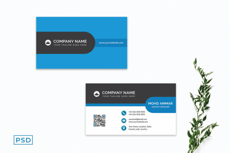 Preview image of Blue Modern Minimalist Business Card Template