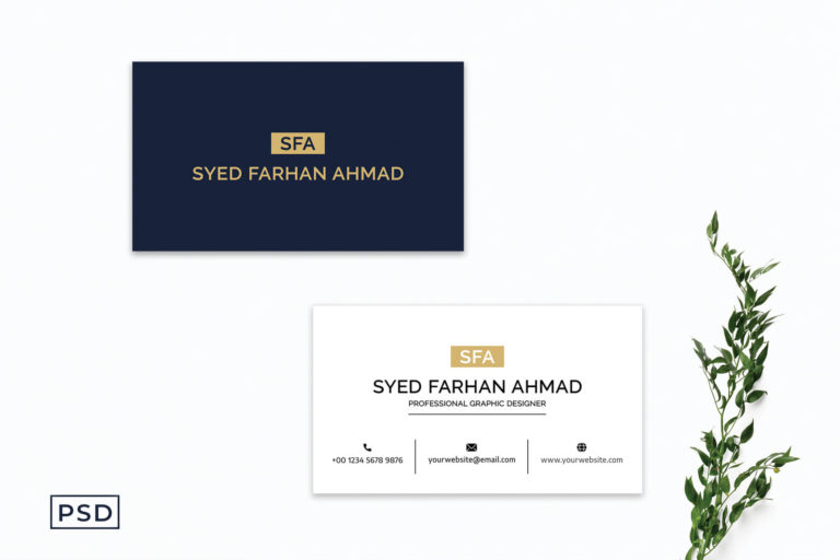 Preview image of Blue Sober Business Card Template