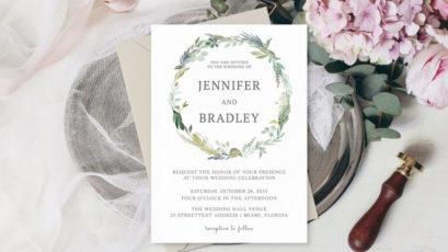 Bohemian Wedding Invitation Template