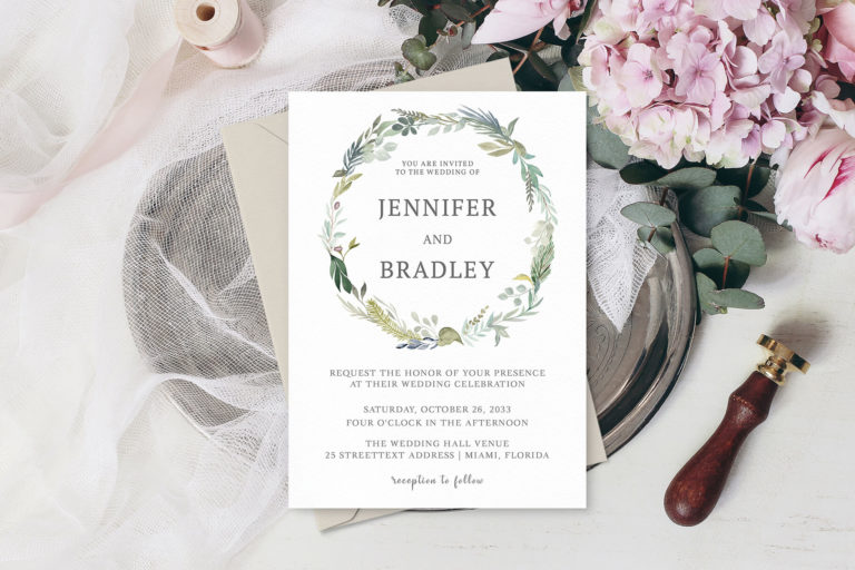 Preview image of Bohemian Wedding Invitation Template