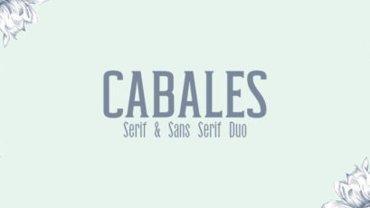 Cabales Duo 8 Font   Bonus Freebie