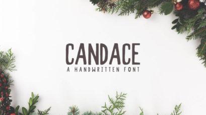 Candace Handwritten Font + Bonus