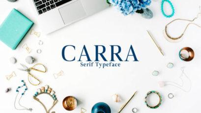 Carra Serif Font Family Pack