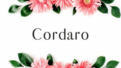 Cordaro Sans Serif Typeface
