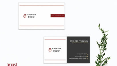 Creative Minimalist Business Card Template V2