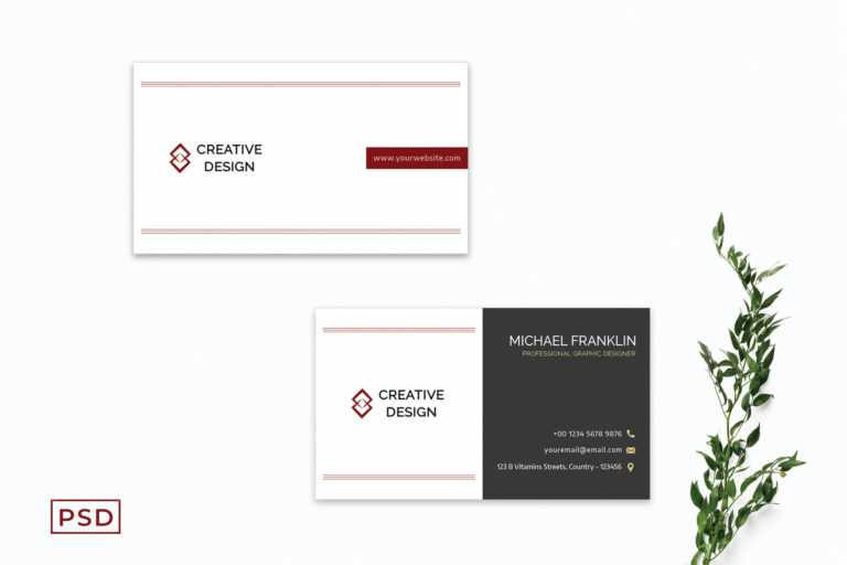 Preview image of Creative Minimalist Business Card Template V2