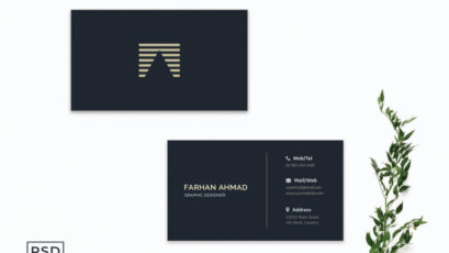 Dark Blue Business Card Template V2