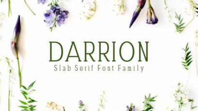 Darrion Slab Serif Typeface