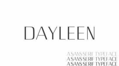 Dayleen Sans Serif Typeface