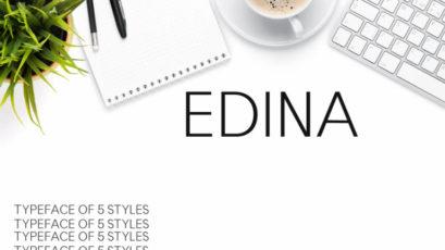 Edina Sans Serif Typeface