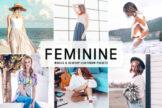 Last preview image of Feminine Mobile & Desktop Lightroom Presets