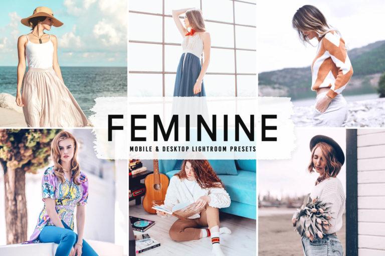 Preview image of Feminine Mobile & Desktop Lightroom Presets