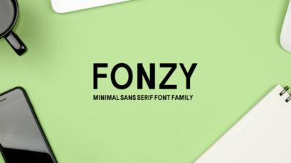 Fonzy Sans Serif Font Family Pack