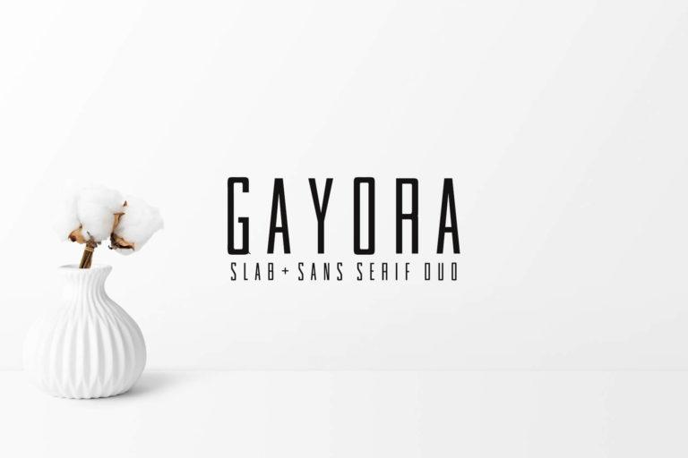 Preview image of Gayora Slab Serif Duo Font