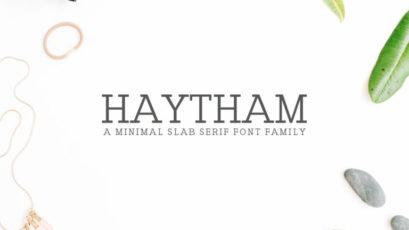 Haytham Slab Serif Fonts Pack