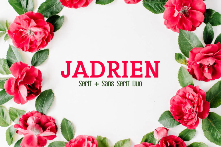 Preview image of Jadrien Serif and Sans Duo Font
