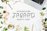 Last preview image of Jaraad Script Font