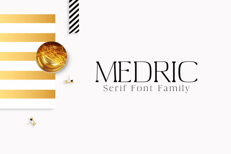 Preview image of Medric Serif Font Family