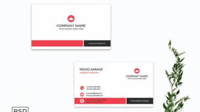 Minimal Crimson Business Card Template V2