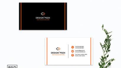 Modern Black & White Business Card Template