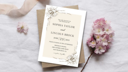 Modern Elegant Wedding Invitation Template
