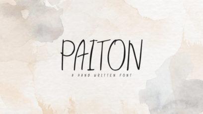 Paiton Handwritten Font