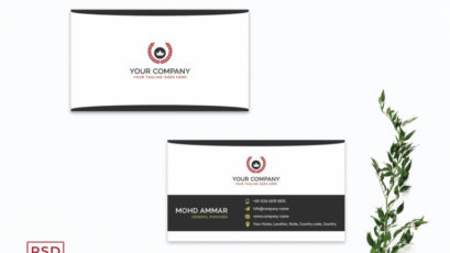 Professional Black & White Business Card Template