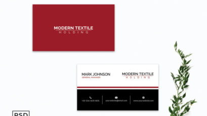 Red & Black Creative Business Card Template