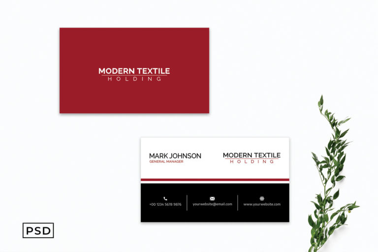 Preview image of Red & Black Creative Business Card Template