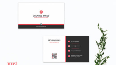 Red & Black Creative Minimal Business Card Template