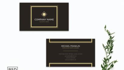 Retro Minimal Business Card Template V2