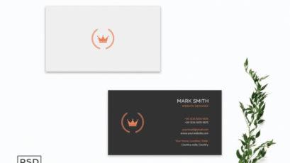 Simple Black Business Card Template V2